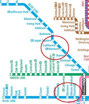 One Blue Line, two Western stops