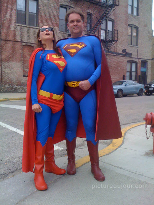 Superwoman and Superman in Chicago