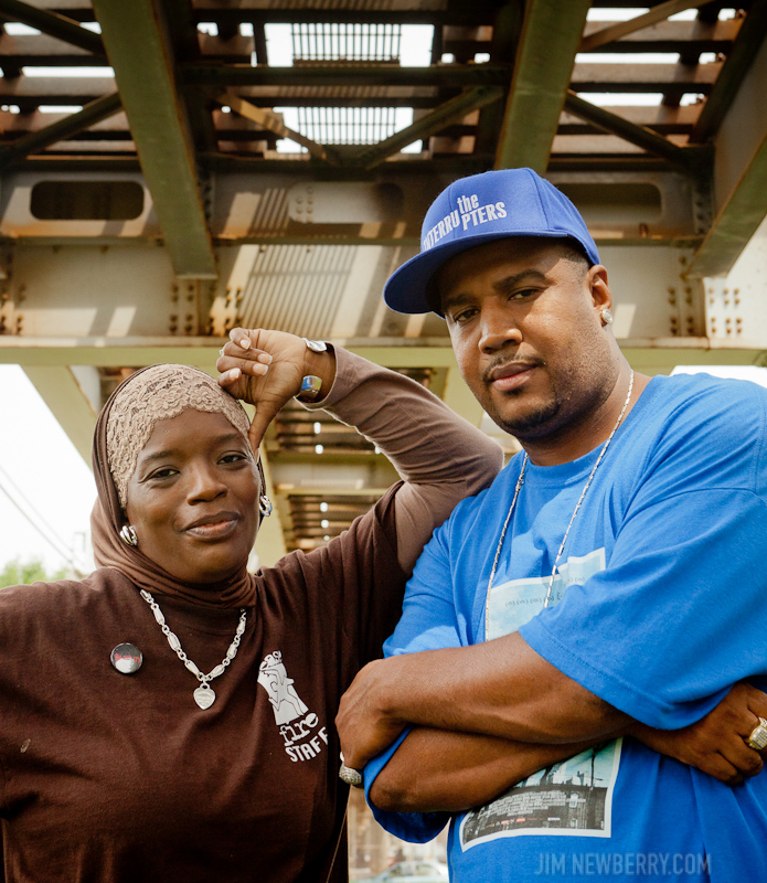 Interrupters Ameena Matthews and Cobe Williams. Photo for The Observer by Jim Newberry.