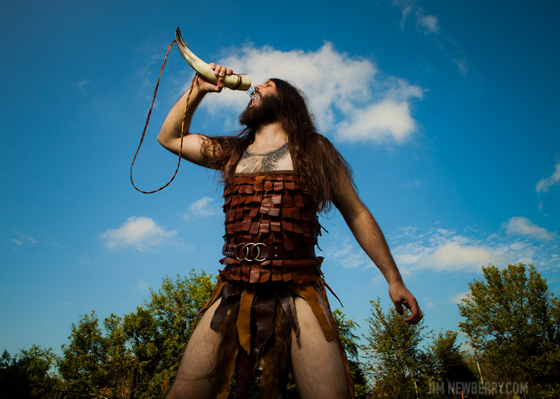 Air guitar champion Nordic Thunder photographed by Jim Newberry in Chicago