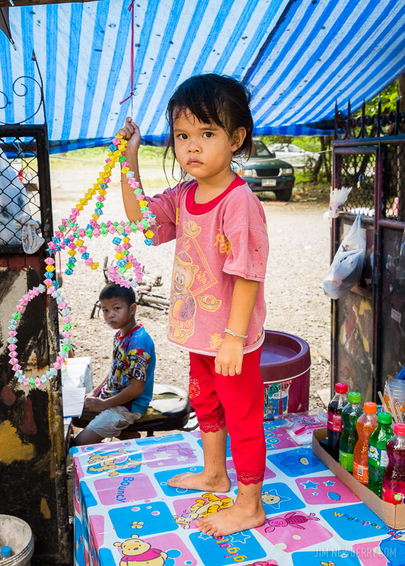 Young child in Bangkok, Thailand. Photo by Jim Newberry.