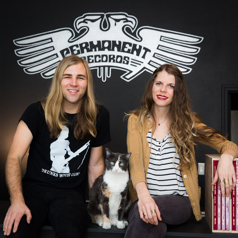 Liz Tooley and Lance Barresi at Permanent Records in Los Angeles.Photo by Jim Newberry.