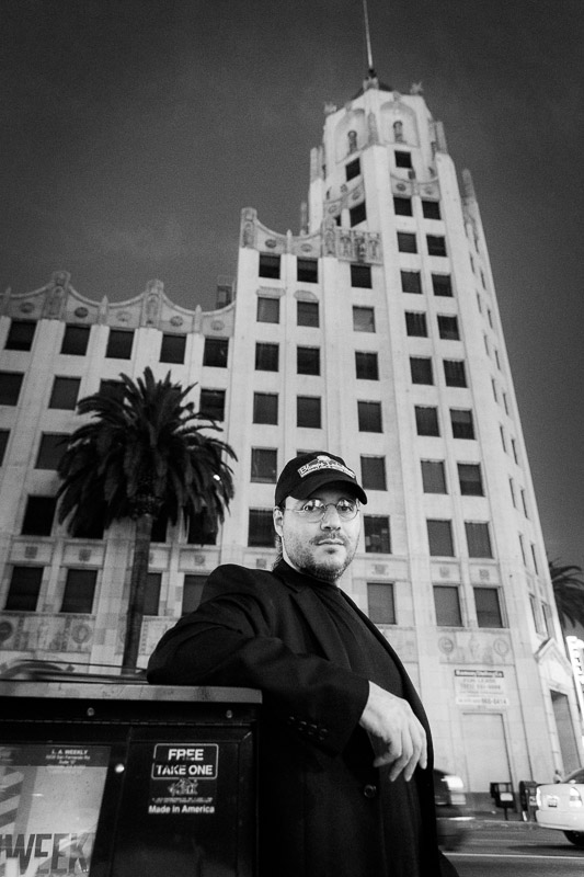 Adam Rifkin photographed in Los Angeles by Jim Newberry.