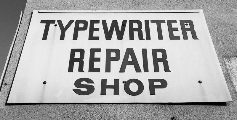 U.S. Office Machines, typewriter repair shop in Los Angeles. Photo by Jim Newberry.