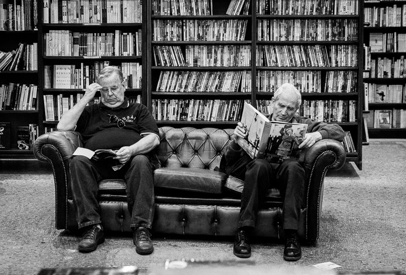 Reading patrons at The Last Bookstore in downtown L.A. Photo by Jim Newberry.