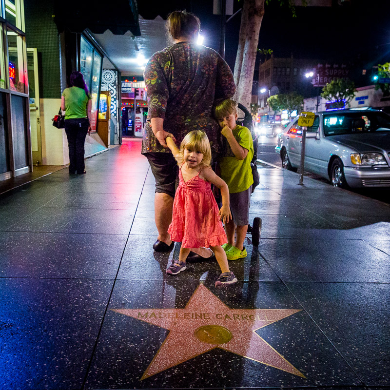 Children on the Hollywood Walk of Fame. Photo by Jim Newberry.