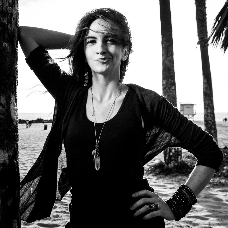 Black and white portrait at Venice Beach. Photo by Jim Newberry.