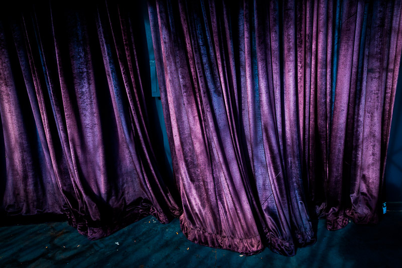 Purple curtain, photo by Jim Newberry.