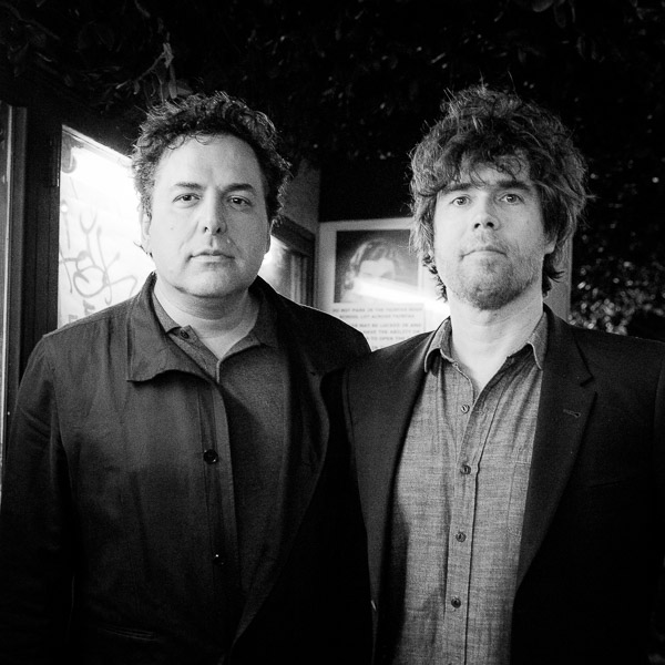 Tom Scharpling and Jon Wurster at the Silent Movie Theatre in Los Angeles on March 22, 2015. Photo by Jim Newberry.