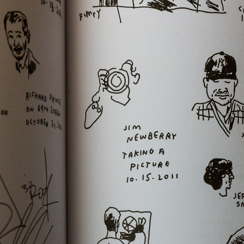 "Drawing of Jim Newberry by Jason Polan, from his book, ""Every Person in New York."""