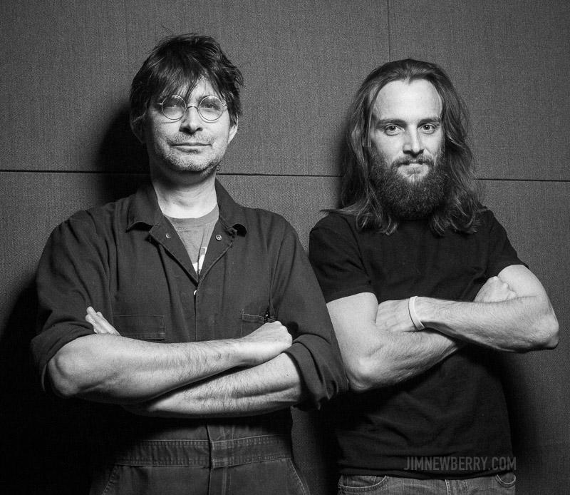 Steve Albini and John Grabski III at Electrical Audio. Photo by Jim Newberry.